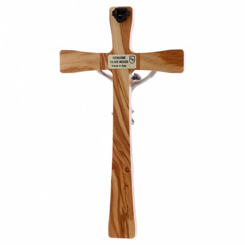Crocifisso in legno di olivo moderno 20 cm s3
