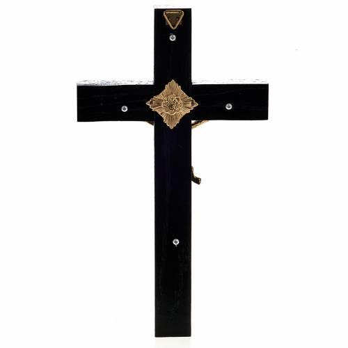 Crocifisso sacerdoti legno rovere 20x10 cm s3