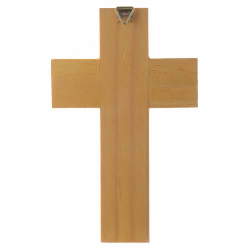 Croix Age Gardien bois émaillé s4