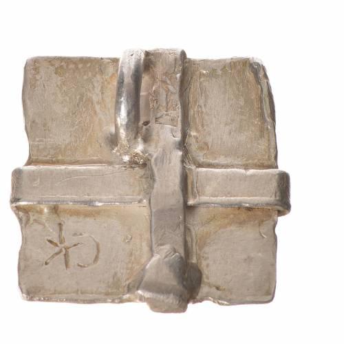 Croix argent 925 carrée s2