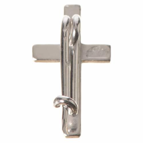 Croix de clergyman argent 925 h 1.8 cm s3
