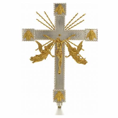 Croix de procession anges et rayons s1