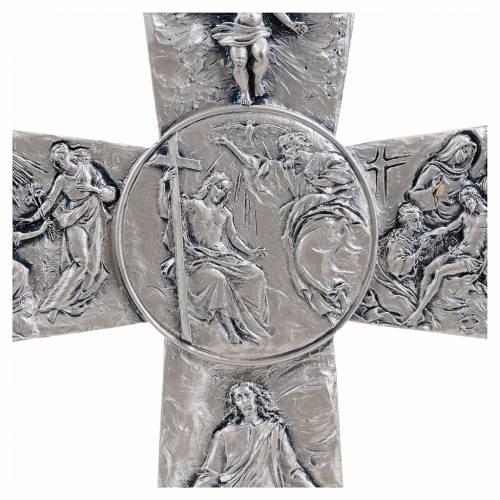 Croix de table argentée images déposition, s4