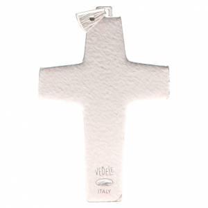 Croix pectorale Bon Pasteur métal 10x7 cm s2
