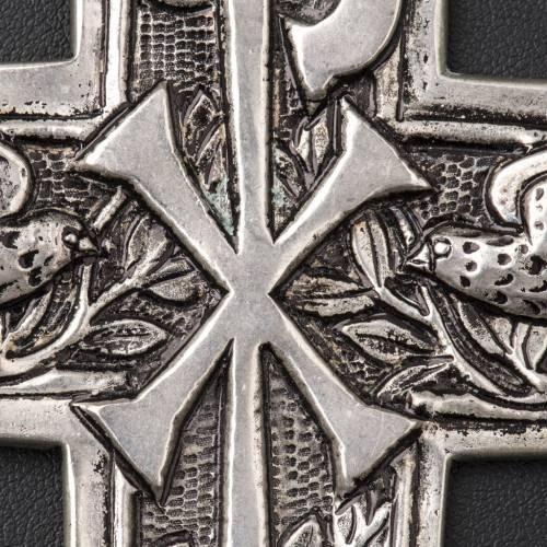 Croix pectorale en argent 800 Chi-Rho s4