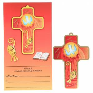 Bonbonnière: Cross pvc Confirmation 13x8,5cm