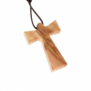 Wooden cross pendants: Cross with angel in olive wood