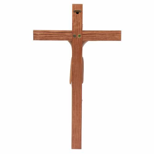 Crucifijo de Altenstadt románico, madera Valgardena varias patin s4