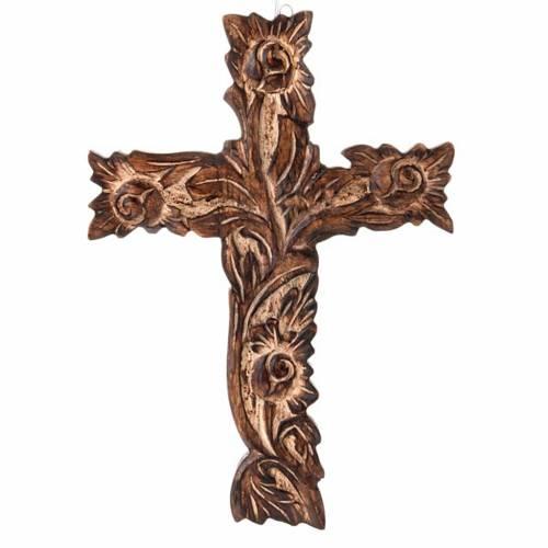 Crucifijo de madera esculpido s1