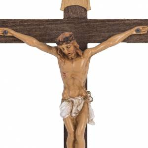 Crucifijo Fontanini cruz madera 18 x 11,5 cuerpo PVC s2