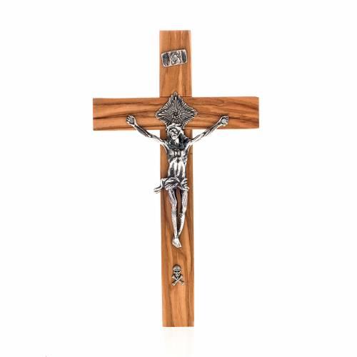 Crucifijo sacerdote 20x10 madera olivo s1