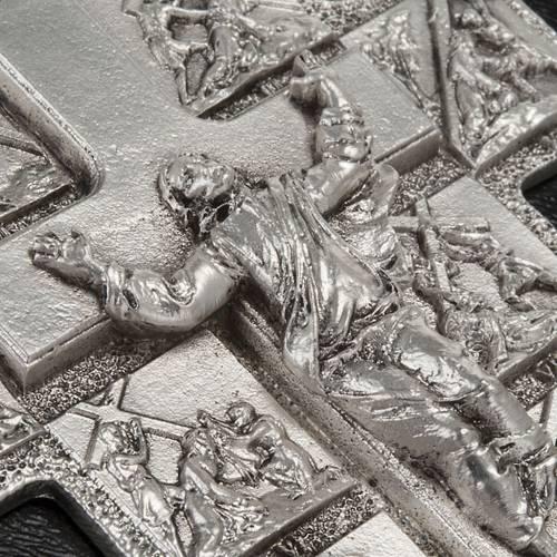 Crucifix argent 14 stations  et Christ ressuscité s4