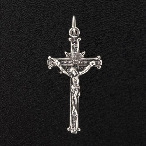Crucifix argent 925 satiné 3.5 cm s2