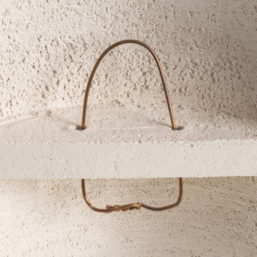 Crucifix argile blanche mod. Stele 29.5 cm s5