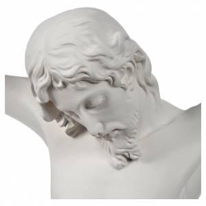 Crucifix bas relief  in white fiberglass s5