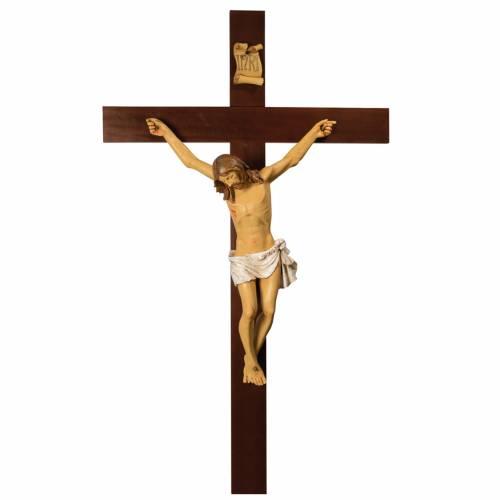 Crucifix bois 200 cm corps résine Fontanini s1