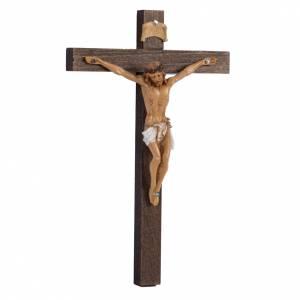 Crucifix croix bois 18x11,5 corps pvc Fontanini s3