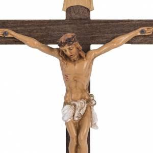 Crucifix croix bois 18x11,5 corps pvc Fontanini s2