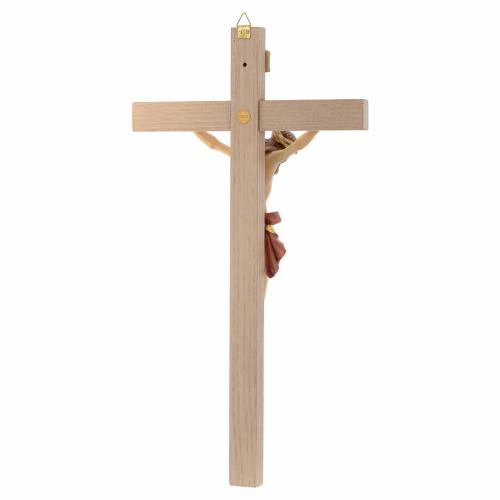 Crucifix croix droite Corps de Christ veste rouge et or s4