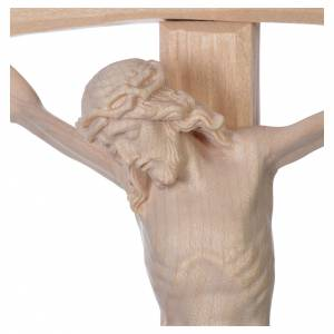 Crucifix, curved, Corpus model in natural Valgardena wood s5