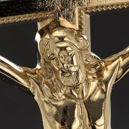 Crucifix d'autel et chandeliers laiton 53x30 cm s4