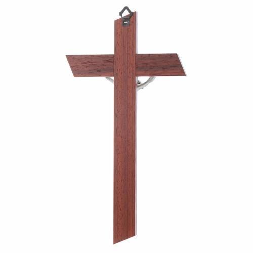Crucifix en padouk et bois d'olivier s4