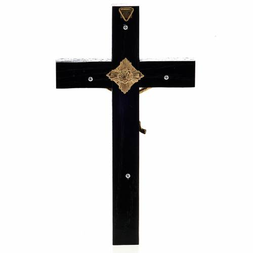 Crucifix for priests in durmast wood 20x10 cm s3