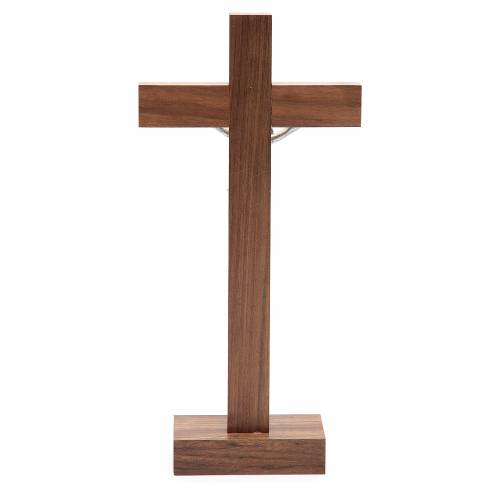 Crucifix in olive wood with base s4