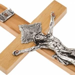 Crucifix pour prêtres bois d'olivier 16x8 cm s2