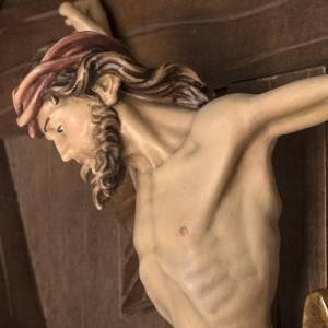 Cruz de campaña abeto con cuerpo de Cristo Val Gardena s16