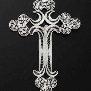 Cruz  de filigrana  de plata 800, pesa 12,7gr s6