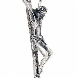 Crucifijos de metal: Cruz pastoral Juan Pablo II 38 cm