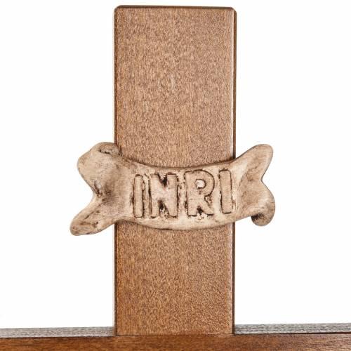 Cruz procesional madera de nogal s6