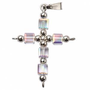 Colgantes, cruces y broches: Cruz Swarovski en forma de cubo tornasol