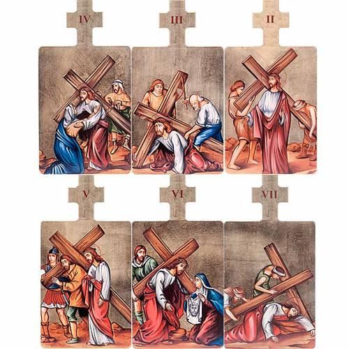 Cuadros estaciones Vía Crucis 15 piezas madera s4