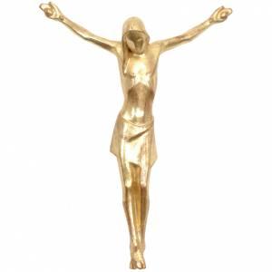 Cuerpo de Cristo, Corpus estilizado, madera Valgardena Dorado s1