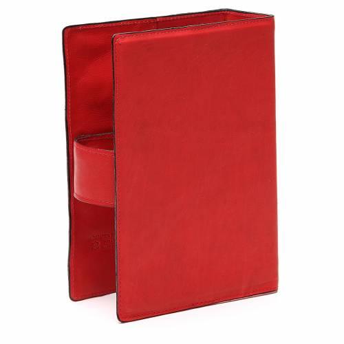 Custodia Bibbia Ger. magnetica Gesù metallo rossa s3