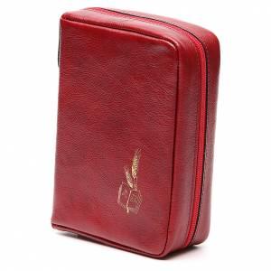Custodie per lezionari: Custodia Messale Quotidiano pelle rossa Alfa Omega
