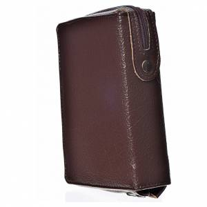 Daily Prayer covers: Daily prayer cover, dark brown bonded leather with image of the Holy Trinity