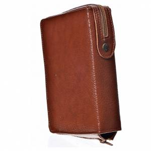 Daily Prayer covers: Daily prayer cover in brown bonded leather with image of Our Lady and Baby Jesus
