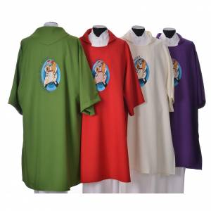STOCK Dalmatic Jubilee Pope Francis with LATIN machine embroidery s2