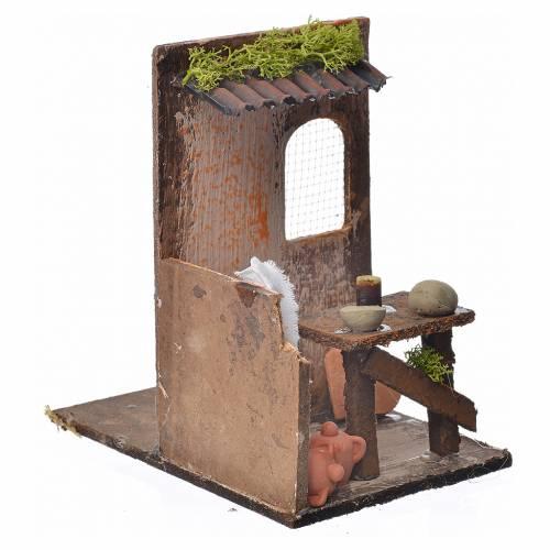Décor crèche atelier du potier 15x9,5x9,5cm s3