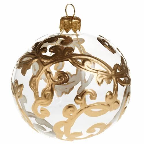 Decoro Albero Natale, palla vetro oro decori 8 cm s1