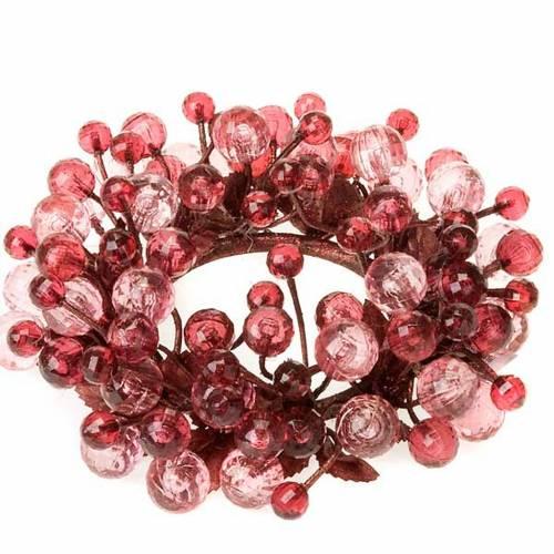 Anello decoro bacche glitter addobbi natalizi s3