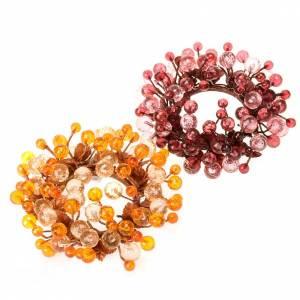 Anello decoro bacche glitter addobbi natalizi s1