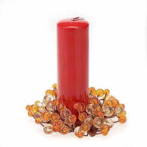Anello decoro bacche glitter addobbi natalizi s2