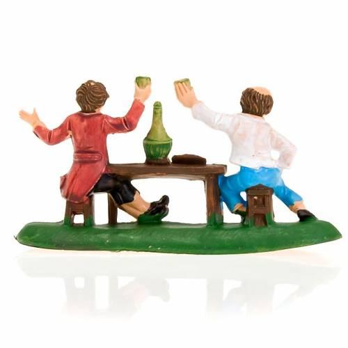 Deux hommes avec du vin, 8 cm s2