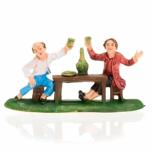 Deux hommes avec du vin, 8 cm s1