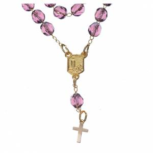 Devotional Chaplet and necklace Our Lady of Fatima, lilac s2