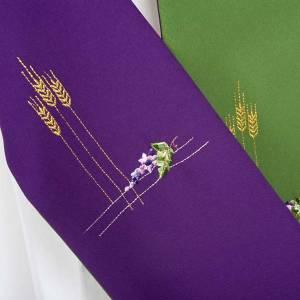 Priesterstolen: Diakonstola grün und violett double face